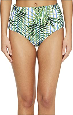 Palm Party High-Waist Bikini Bottom