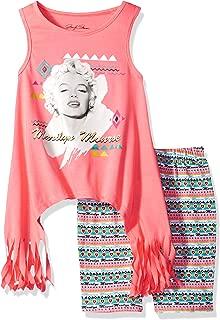 Marilyn Monroe 女童时尚自行车短裤套装