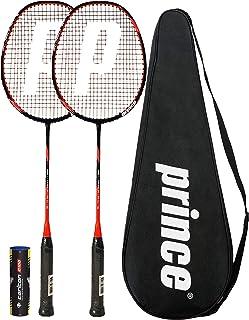 Prince 2 x Pro Nano Ti 75 Graphite Badminton Raqueta + 6