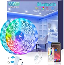 Bluetooth LED Strip Lights 65.6FT - Inscrok LED Light Strips Controlled by Smart Phone APP - Music Sync LED Lights Strip f...