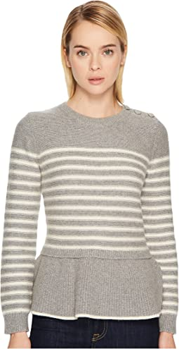Kate Spade New York - Stripe Peplum Sweater