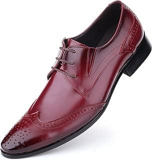 MENS SMART Wedding Bogues Shoes Oxblood Brown Blue Size 6 7 8 9 10 11 12 13 14