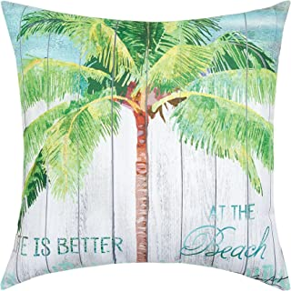 C&F Home at The Beach HD Indoor/Outdoor Pillow 18 x 18 Green Palm at The Beach