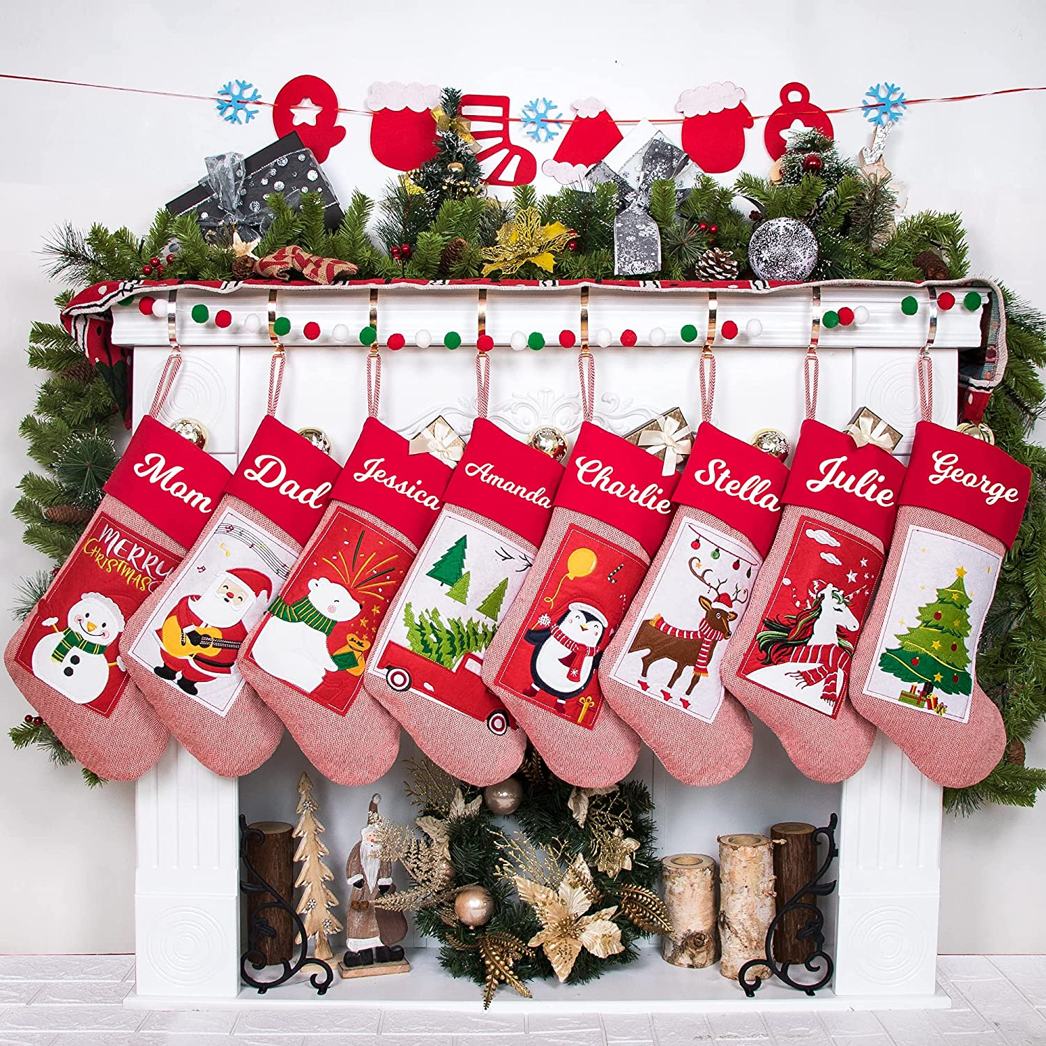 GEX 2021 Personalized Oakland Mall Christmas Stockings Name for Family Nippon regular agency Custom