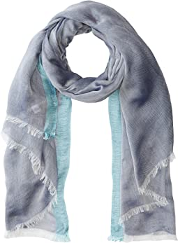Chambray Scarf with Border