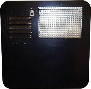 Suburban 6261AEB Radius Water Heater Access Door, Black - 4 & 6 Gallon