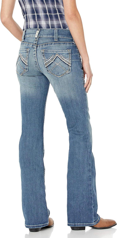 ARIAT R.e.a.l Mid Rise Boot Cut Jean Jeans Donna