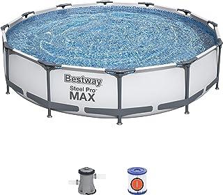 Bestway 56416 - Piscina Desmontable Tubular Steel Pro Max 366x76 cm Depuradora de Cartucho 1.249 litros/hora
