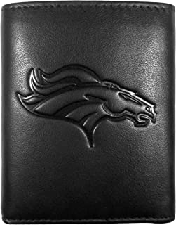 Siskiyou NFL mens Embossed Leather Tri-fold Wallet