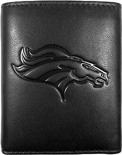 Siskiyou NFL Denver Broncos Embossed Black Tri-fold Leather Wallet