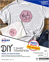 Avery Printable Heat Fabric Transfers for DIY Projects on Light Fabrics — Make..