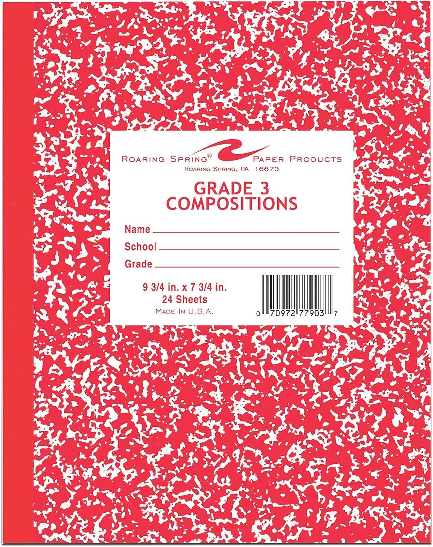 Roaring Spring Paper Products 77903 Flex Abdeckung Marble Comp Book Book Book - 144 pro Fall B001F37RQQ    | Deutschland  49f5a2