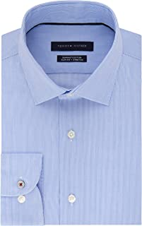 Men's Dress Shirt Slim Fit Non Iron Stretch Stripe