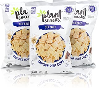 Plant Snacks Sea Salt Mix Cassava Root Chips, 5 oz Bags, Pack of 3