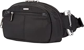 Travelon Anti-Theft Concealed Carry Waist Pack Messenger Bag, Black