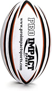 Pro Impact Training Rugby Ball – Professional Grade Ball – Ideal Toss &..