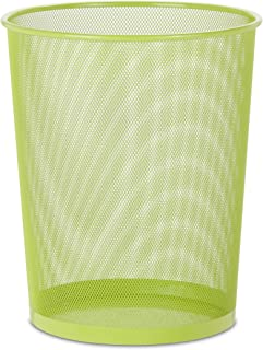 Honey-Can-Do TRS-02121 Steel Mesh Powder-Coated Waste Basket, Lime Green, 18-Liter/4.7-Gallon Capacity, 11.75 x 14-Inches Tall
