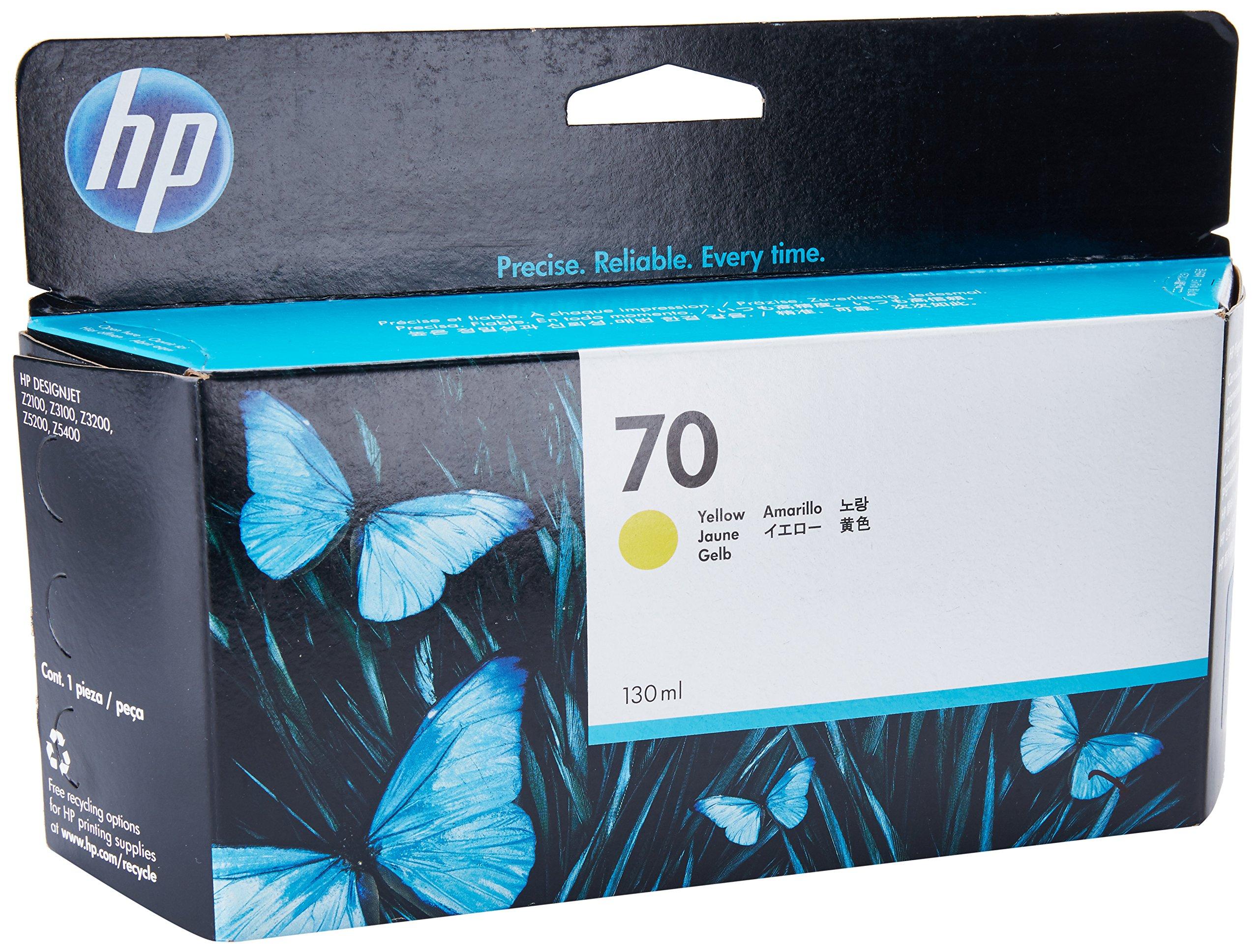 HP C9454A - Cartucho de tinta 70, 130 ml, amarillo: Amazon.es ...