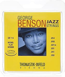 Thomastik Cuerdas para Guitarra Eléctrica George Benson Jazz Guitar juego GB114 Heavy niquel entorchado plano .014-.055
