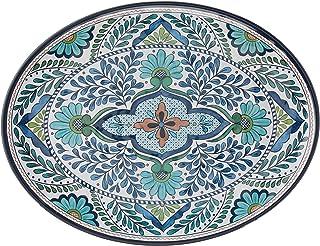طبق بيضاوي من الميلامين Talavera من Certified International مقاس 45.72 سم × 34.29 سم، متعدد الألوان