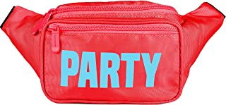 SoJourner Bum Bag Fanny Pack Neon Party - Red | for women, men and kids | cute fits small medium large
