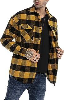 Redbridge Camisa Casual para Hombres Blusa a quadros Chauqueta Plaid Shirt Vintage