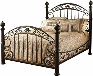 Hillsdale Furniture Chesapeake Bed Set with with Rails, King, Rustic Old Brown