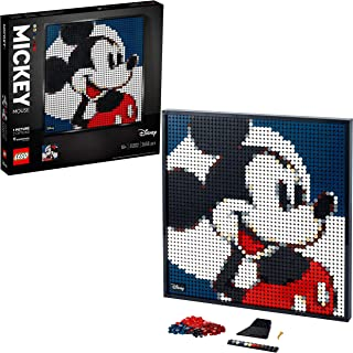 LEGO 31202 Art Disney's Mickey Mouse Toppenposter, Canvas Wanddecoratie, DIY-Set voor Volwassenen