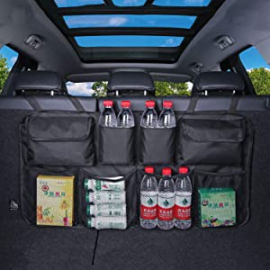 Fifth Gear  Hanging Car Boot Storage Organiser Multi Pocket Back Seat Organiser Waterproof Trunk Organiser with Pockets