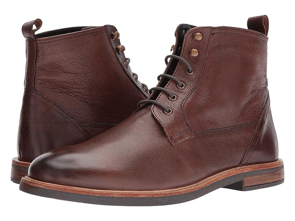 Ben Sherman Birk Plain Toe Boot (Dark Brown) Men