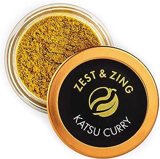 Zest & Zing Katsu Curry (Molido), Tarro De Especias De 24 G: Mezclas De Especias De Curry Premium De Zest & Zing. Tarros D...