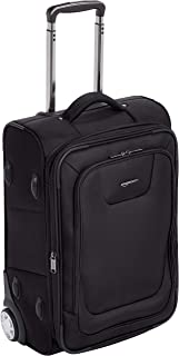 AmazonBasics Premium Upright Expandable Softside Suitcase...