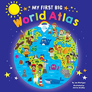 My First Big World Atlas - Lap Size Board Book - Educational Children's Book - Preschool Learning - Hardcover