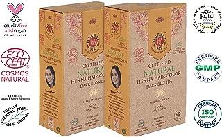 Herbal Me - Dark Blonde Henna Hair Color Combo Kit 7.05 Oz+7.05 Oz,CERTIFIED 100% Natural by Ecocert(France).VEGAN & HALAL approved, Zero chemicals(PACK OF 2)