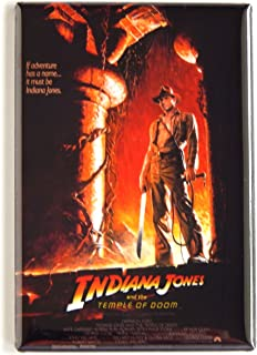 Indiana Jones and the Temple of Doom Movie Poster Fridge Magnet (2 x 3 inches)