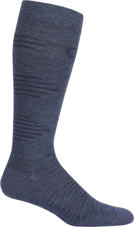 Icebreaker Merino Men's Running & Multisport+ Light Cushion Compression Over The Calf Socks, Merino Wool