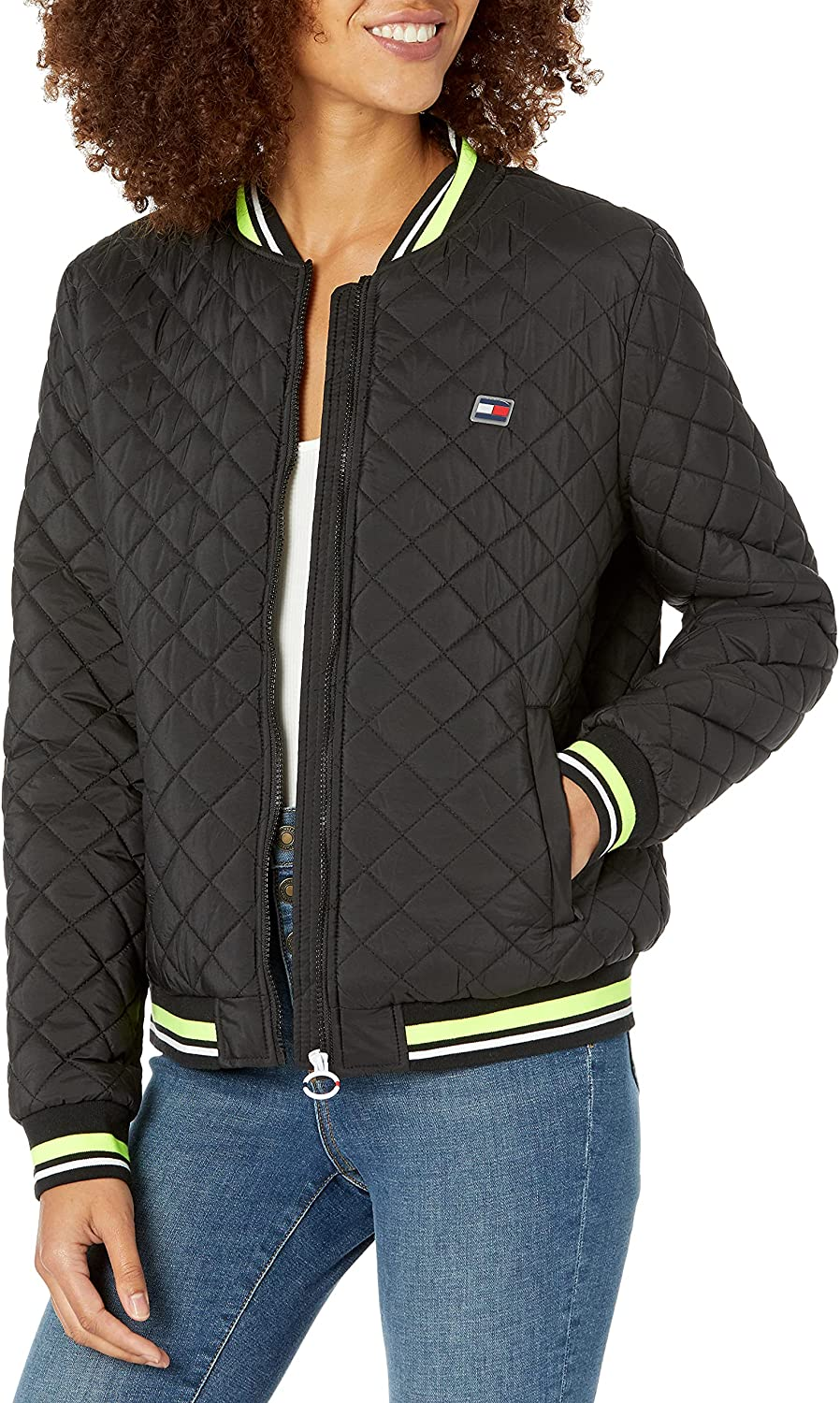 Tommy Hilfiger Women's Quilted Lightweight Long Sleeve Jacket