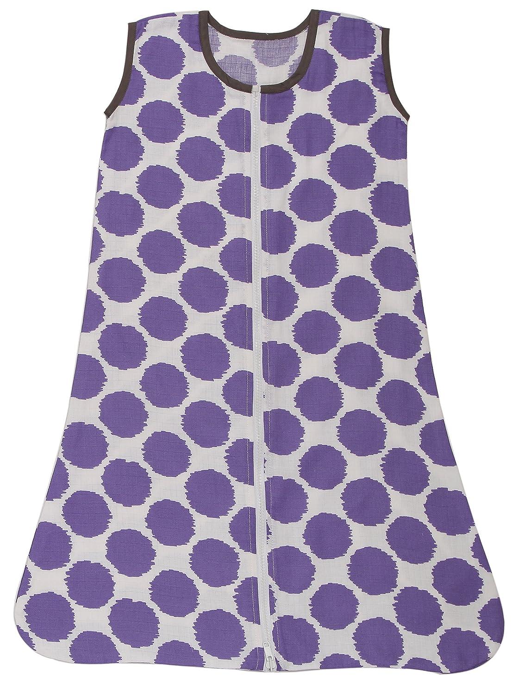 Small, Coral//Grey Muslin Ikat Dots Sleep Sack Wearable Blankets Bacati