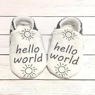 Hello World Newborn Baby Shoes, Baby