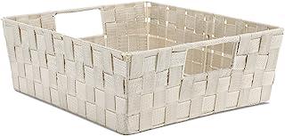 Whitmor - Bolsa para estante con correa tejida
