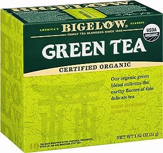 Bigelow Organic Green Tea 40 Bags (Pack of 6), 240 Tea Bags Total. Organic Caffeinated Individual Green Tea Bags, for Hot Tea or Iced Tea, Drink Plain or Sweetened with Honey or Sugar