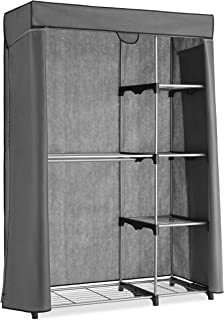 Whitmor Deluxe Utility Closet - 5 Extra Strong Shelves - Removable Cover