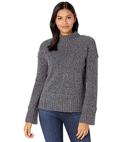 Smartwool Bell Meadow Sweater (Black/Medium Gray Heather Marl) Women