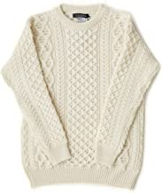 Irish Fisherman Sweater Aran Knit 100% Merino Wool Made in Ireland