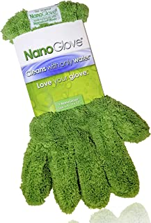 Nano Glove - Green Household Kitchen Cleaning Hand Glove | Replaces Paper Towels Microfiber Wipe Cloths & Feather Dusters | All Purpose Surface Cleaner for Window Stainless Steel Dusting (L-XL)