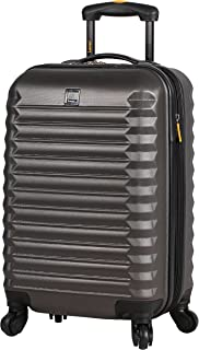 Best Treadlight Checked Luggage Collection - 24 Inch Scratch Resistant (ABS + PC) Hard Case Bag - Ultra Lightweight Expandable Large Suitcase With Rolling 4-Spinner Wheels (Charcoal) Review