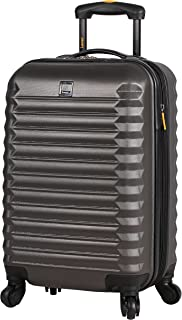 Treadlight Checked Luggage Collection - 28 Inch Scratch Resistant (ABS + PC) Hard Case Bag - Ultra Lightweight Expandable Large Suitcase With Rolling 4-Spinner Wheels (28in, Charcoal)