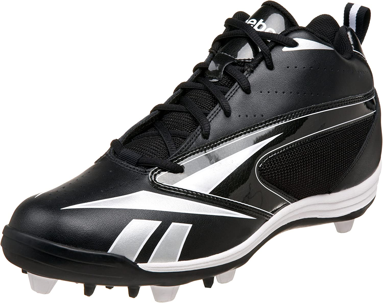 Reebok Men's Audible III Mr7 Football Cleat Black White