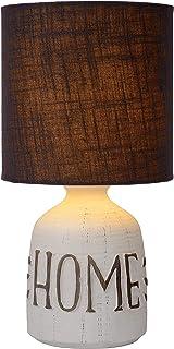 Lucide Cosby Lampe de table, Céramique, Marron, Ø 16,5 cm, E14, max 40 watts