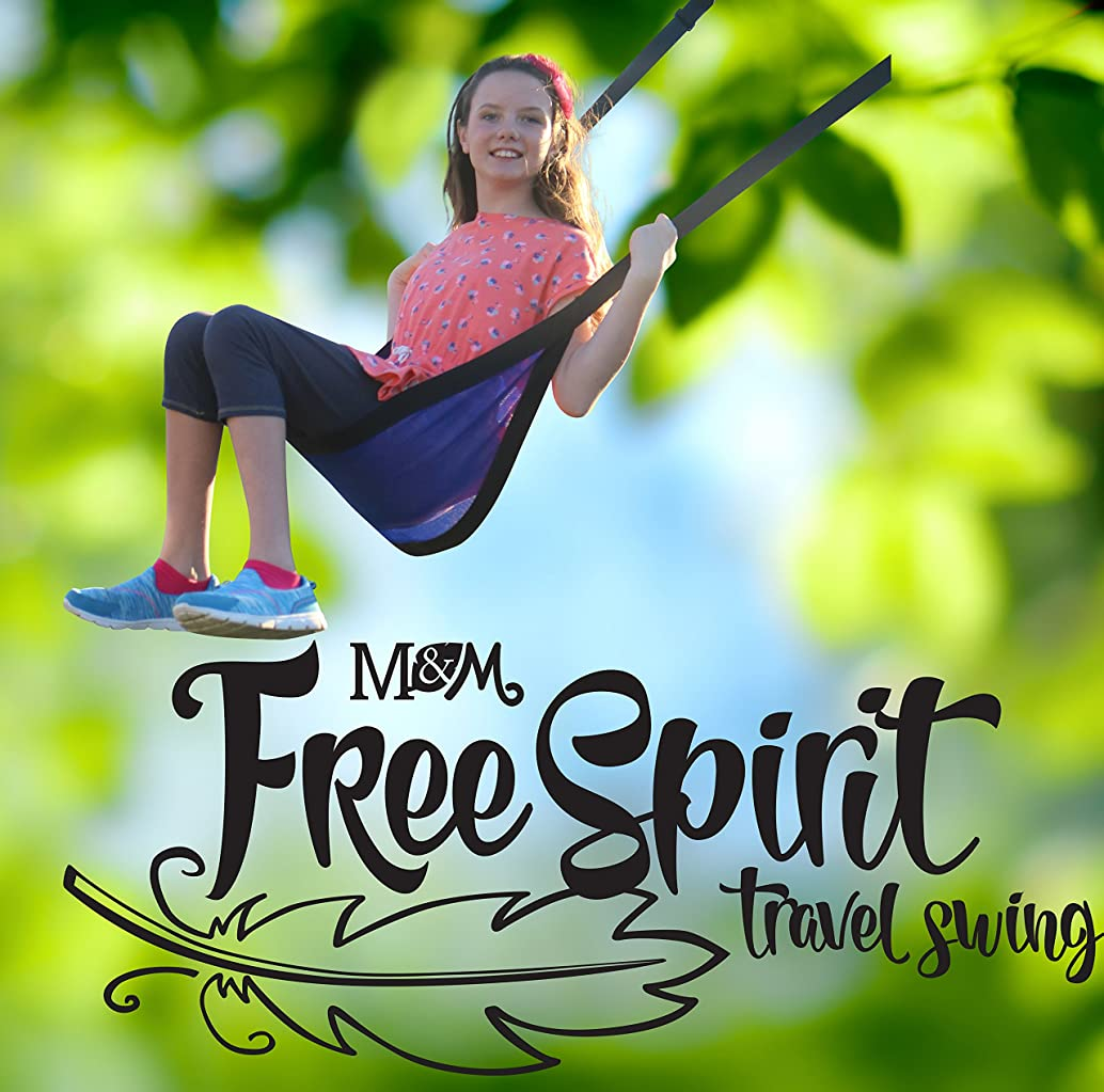 M & M Sales Enterprises Free Spirit Travel Swing, Blue, One Size